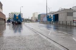 Poprawki i uzupełnienie na drogach dla rowerów po budowie Metra (ul Targowa)
