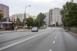 Ścieżka rowerowa wzdłuż ul. Wrocławskiej od Powstańców Śl. do Widawskiej