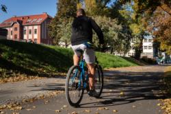 Droga dla rowerów i chodnik - Rondo Daszyńskiego - Grzybowska