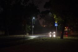 Oświetlenie przejścia dla pieszych na ulicy Potrzebnej