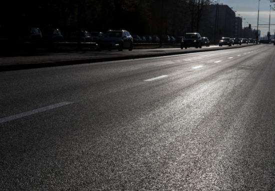 Aleja Niepodległości z nowym asfaltem