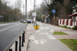 Przebudowa włączeń do ścieżek rowerowych Podleśnej i Gwiaździstej aby obsługiwały wszystkie relacje i przecznice.