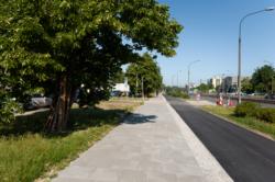 Ścieżka rowerowa i remont chodnika - Radiowa