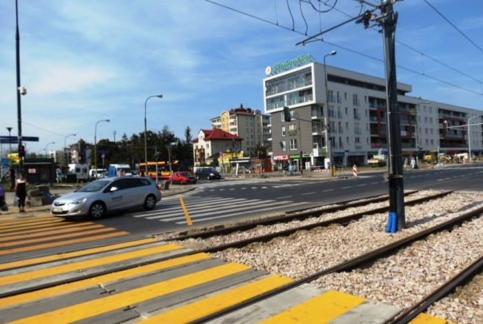 Kolejny etap prac na skrzyżowaniu ulic Powstańców Śląskich i Człuchowskiej