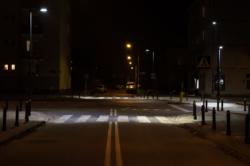 Doświetlenie przejścia dla pieszych ul. Sokratesa nr 9