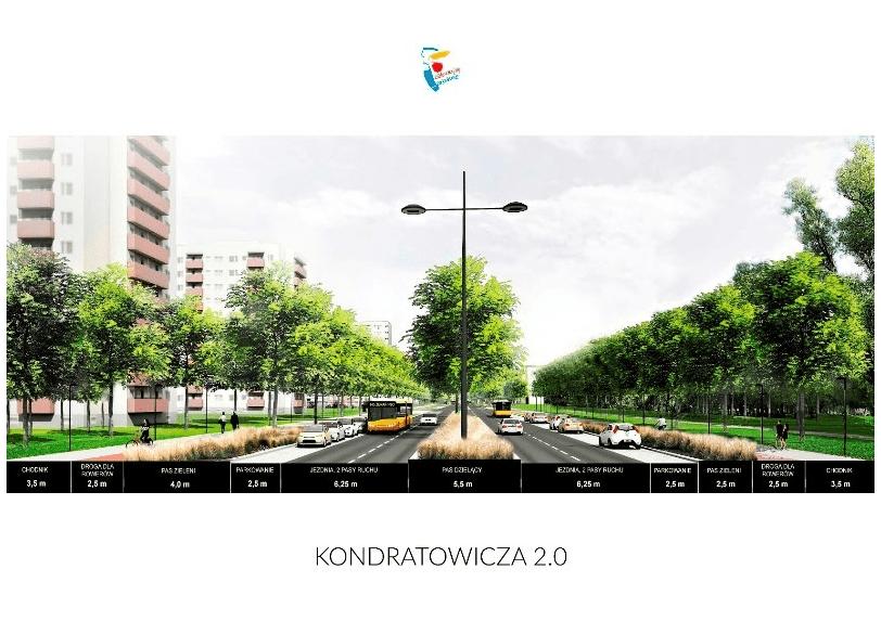 Ulica Kondratowicza Po Powstaniu Metra Zarzad Drog Miejskich W