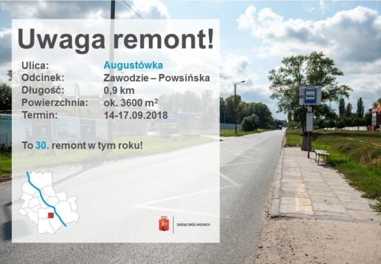 Kolejny etap remontu ul. Augustówka