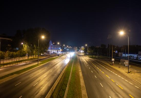 Nowe latarnie na Jagiellońskiej