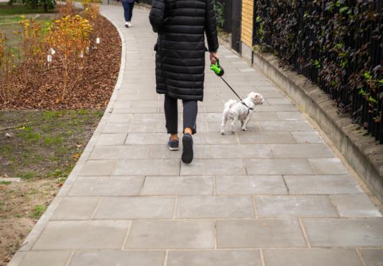 Chodnik w miejscu przedeptu na Wrocławskiej