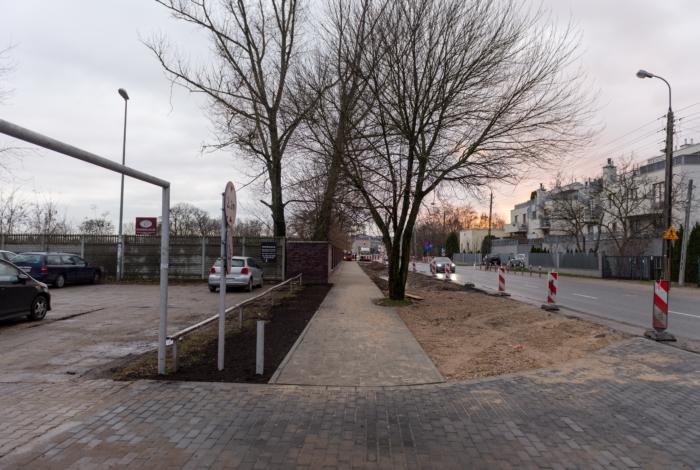 Nowy chodnik na Ryżowej