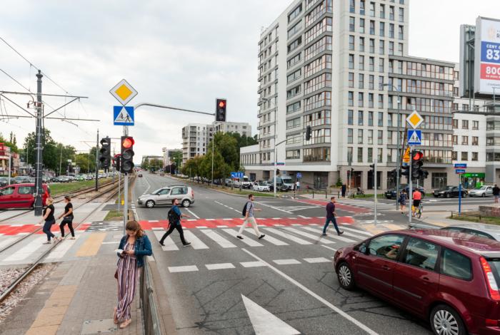 Skrzyżowanie Instalatorów z Krakowską po przebudowie