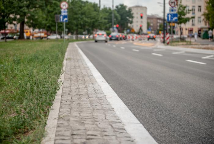 Ulica Leszno już po frezowaniu