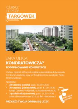 Dużo zieleni, nowe chodniki i drogi rowerowe, uporządkowane parkowanie – tak będzie wyglądała ul. L. Kondratowicza po wybudowaniu metra.