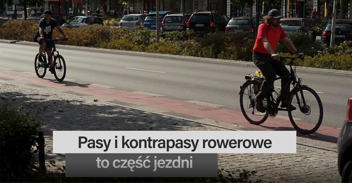 Pas rowerowy jest jednokierunkowy