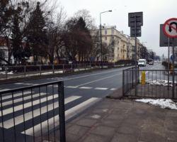 Przejście dla pieszych bez sygnalizacji.