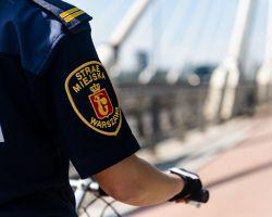 Straż Miejska - patrol rowerowy nad Wisłą