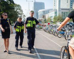 Straż Miejska - patrol w ramach kampanii Rower to pojazd